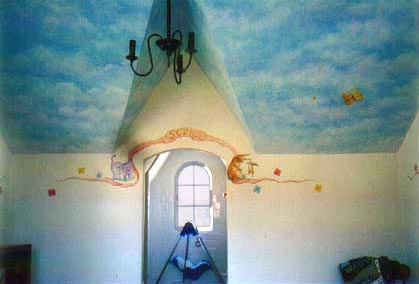 up against the wall-murals - children's rooms